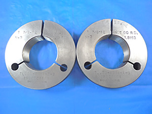 1 7 8 12 N3 Thread Ring Gages 1 875 Go No Go Pds 1 8209 1 8163 Inspection