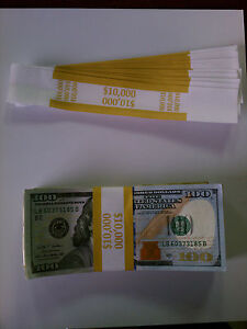50 Self sealing Currency Bands 10 000 Denomination Straps Money 100 s