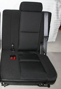 Tahoe 3rd Third Row Seat Black Ebony Cloth Yukon Xl Suburban 2007 2014