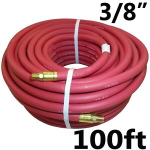 3 8 X 100ft Red Continental Formerly Goodyear Rubber Air Hose
