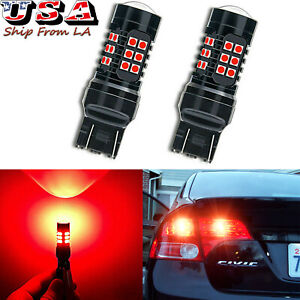 Strobe Flashing Red 30 Led Replacement Bulbs For Honda Civic Brake Tail Lights