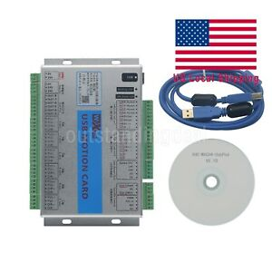 6 Axis Usb 2mhz Mach4 Cnc Motion Control Card Breakout Board For Machine Us