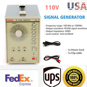 Rf Signal Generator High Frequency Radio Frequency 100khz 150mhz 600 110v Usa