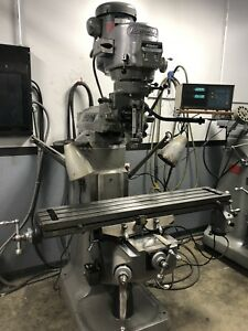9 X 48 2hp Late Model Bridgeport Vertical Milling Machine With Dro