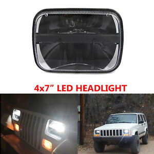 7x6 5x7 Led Hi Lo Sealed Beam Headlight For Ford Gmc Jeep Yj Cherokee Xj Truck