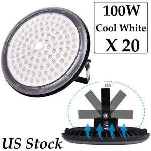 20x 100watt Ufo Led High Bay Light Ultra thin Ip67 Warehouse Industrial Fixtures