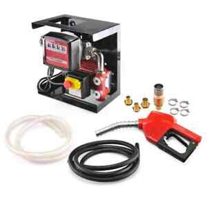 Electric Oil Transfer Pump W Meter 110v Diesel Fuel Manual Nozzle Hose