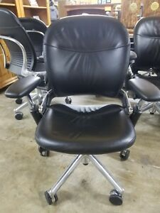 Steelcase Executive Leather Office Chairs