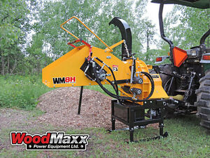 Woodmaxx Wm 8h Pto Wood Chipper W hydraulic In feed W Usa Pto Shaft