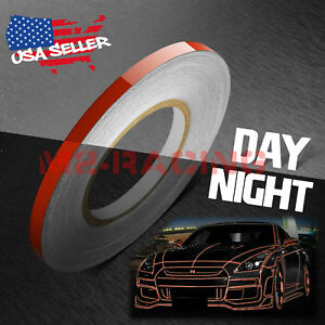 Burgundy Reflective Tape Safety Self Adhesive Striping Sticker 150ft Roll 1cm