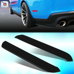 For 2013 2014 Ford Mustang Rp Style Rear Bumper Corner Side Extension Splitters