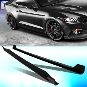 For 2015 2017 Ford Mustang Pair Abs Side Skirts Under Board Extension Body Kit