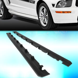For 2010 2014 Ford Mustang Rp Style Pair Abs Side Skirts Extension Lip Body Kit