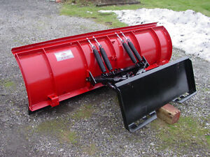 Skid Steer Tractor Quick Attach Snow Plow 8 Western Pro Plow