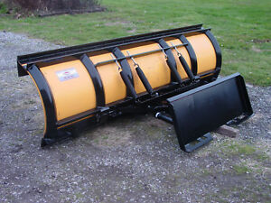Skid Steer Tractor Quick Attach Snow Plow 8 5 Meyer Poly Plow
