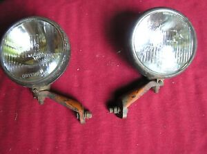 Vintage 1940 s Arrow Model 500 6v Driving Lights Truck Tractor Rat Rod Work