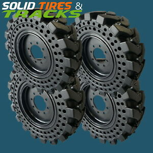 12 16 5 33x12 18 Solid Skid Steer Tires Rims Severe Duty