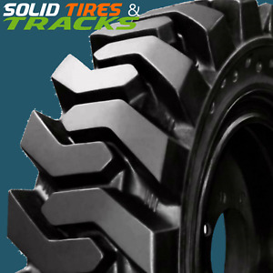 10 16 5 30x10 16 12x16 5 33x12 18 solid Skid Steer Tires 4 Rims Heavy Duty