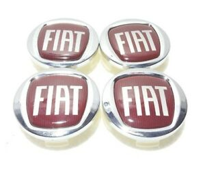 4pcs Set Oem Fiat Bravo 500 Panda Punto Center Wheel Rim Hubcap Hub Cap Cover