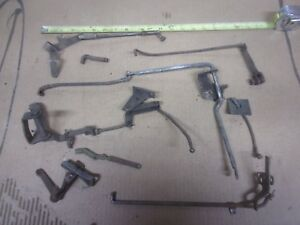 Lot Vintage Throttle Gas Linkage Rod Bracket Chevy Ford Dodge Rat Rod Truck Oem