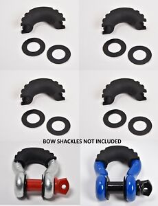 4xd Ring Black Bow Shackle Isolator Jeep Towing Off Road Kit 3 4 Silencer Noise