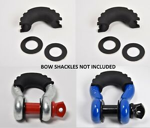 2xd ring Black Bow Shackle Isolator Jeep Towing Off Road 3 4 Silencer No Noise