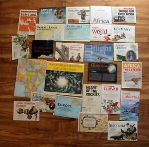 National Geographic Magazine Map Only Lot World Europe Germany Space Africa