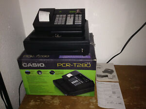 Casio Electronic Cash Register Pcr t280 With 58mm Thermal Printer W Box