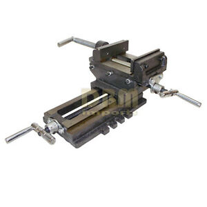 2 Way Cross Vise Clamp Holder Drilling Milling Machine Cross Slide Drill 4 Jaw