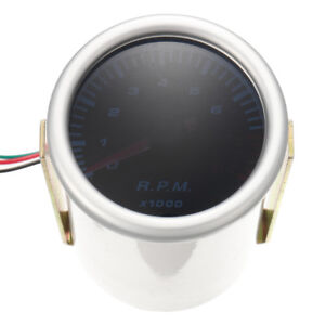 Universal Car 52mm 2 Inch Counter Tacho Tachometer Gauge Pointer Rpm White Led 1