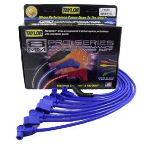 Taylor 74636 Chevy Gmc Blue Spiro pro Custom Spark Plug Wire Set