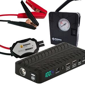 Rugged Geek Rg1000 Safety Plus Gen2 Portable Jump Starter Power Supply