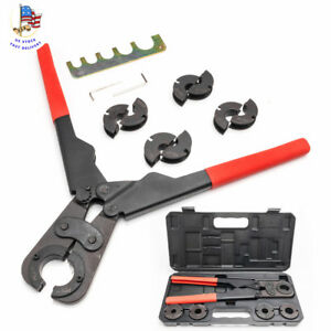 Home Manual Pex Pipe Crimping Tool Kit Labor saving Sturdy With Case Box Hand