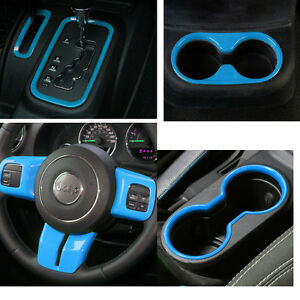 Light Blue Interior Decoration Cover Trim Accessory For Jeep Wrangler Jk Jku ya
