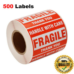 Fragile Labels Handle With Care Stickers Shipping Stickers 2 x3 500 Labels