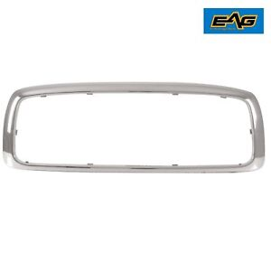 2003 2005 Dodge Ram 1500 2500 3500 Front Grille Shell Chrome Abs Plastic Shell