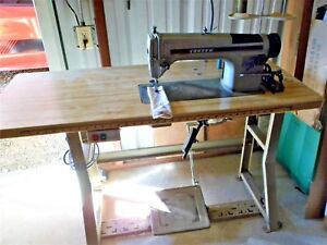 Consew 230 R 1 Industrial Sewing Machine Single Needle With Table Motor Extras