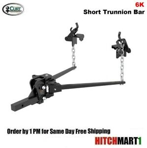 6k Short Trunnion Bar Weight Distribution Trailer Hitch W Shank 17330