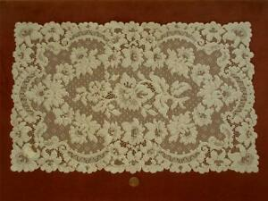 Hand Run 18 Antique Vtg French Alencon Lace Dresser Scarf Runner Doily Panel