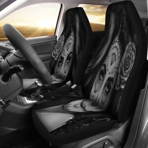 Calavera Girl Design Car Seat Covers Universal Fit For Most Cars And Suv