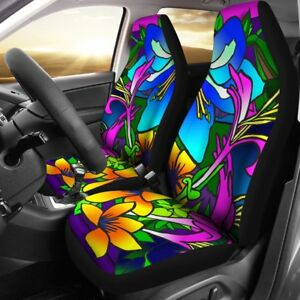 Retro Eye Popping Flower Design Universal Fit Car Seat Cover Set