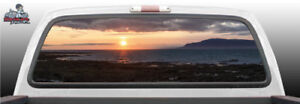 Scenic Sunset Sunrise Clouds Perforated Rear Window Graphic Decal Suv Truck Car