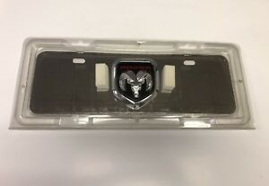 Dodge Logo 3d Logo Chrome Stainless Steel License Plate Mini
