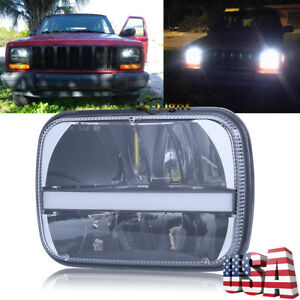 5x7 7x6 Led Headlights For Jeep 84 01 Cherokee Xj Yj H6054 H5054 H6054ll Truck