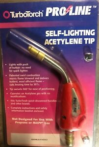 Turbotorch Acetylene Tip Pl 5a Self lighting Quick Disconnect Fitting New