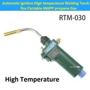 Automatic Ignition High Temperature Welding Torch Fire Portable Mapp Propane Gas