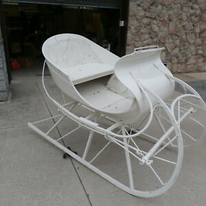 Albany Cutter White Horse Drawn Sleigh