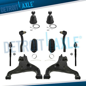 Front Lower Control Arm Ball Joint Tierods For Infiniti Qx56 Nissan Armada Titan