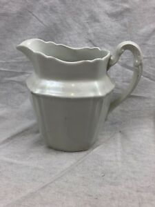 Antique Johnson Brothers England Semi Porcelain 6 Pitcher Brown Stamp