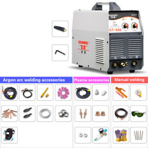 220v Arc Plasma Cutter Welding Machine Ac dc Tig mma 3 In 1 Welder accessories